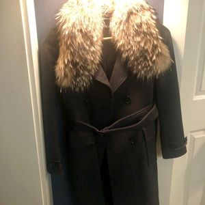 Andrew Marc size 6 coat with fur